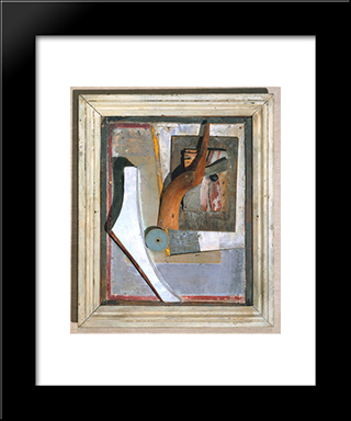 Relief In Relief: Modern Black Framed Art Print by Kurt Schwitters