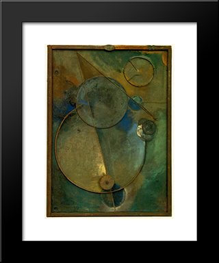 Revolving: Modern Black Framed Art Print by Kurt Schwitters