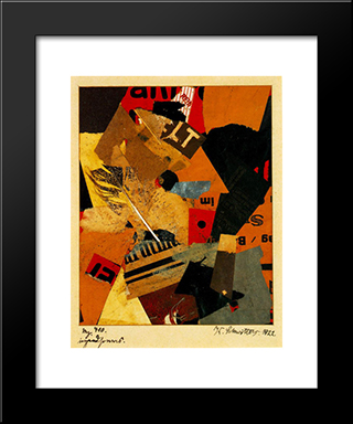 Something Or Other: Modern Black Framed Art Print by Kurt Schwitters