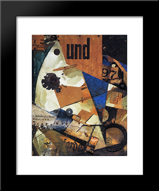 The And-Picture: Modern Black Framed Art Print by Kurt Schwitters