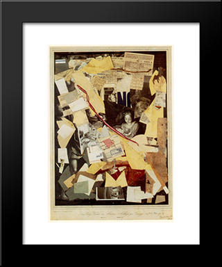 The Holy Night By Antoni Allegri, Known As Correggio...: Modern Black Framed Art Print by Kurt Schwitters