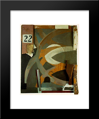 The Spring Door: Modern Black Framed Art Print by Kurt Schwitters