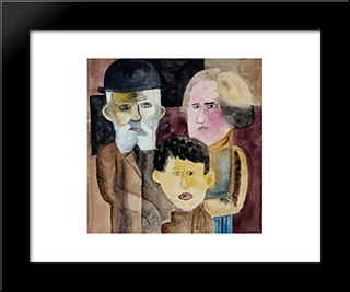 Familia: Modern Black Framed Art Print by Lasar Segall