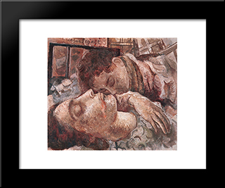 Mae Morta: Modern Black Framed Art Print by Lasar Segall