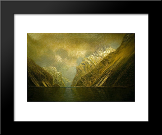 At The Iron Gate: Modern Black Framed Art Print by Laszlo Mednyanszky