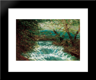Burring Brook: Modern Black Framed Art Print by Laszlo Mednyanszky