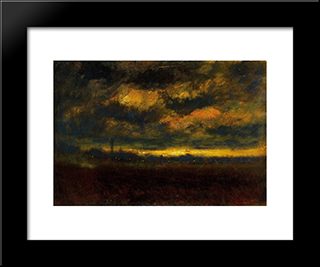 In The Outskirt Of The City: Modern Black Framed Art Print by Laszlo Mednyanszky