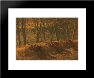 Soldiers: Modern Black Framed Art Print by Laszlo Mednyanszky