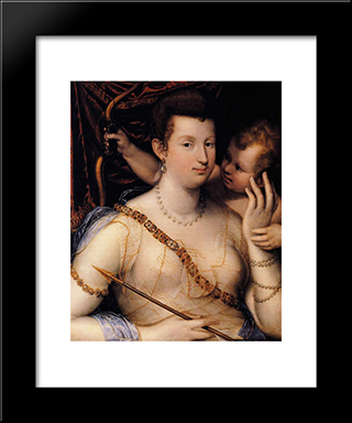 Isabella Ruini As Venus: Modern Black Framed Art Print by Lavinia Fontana