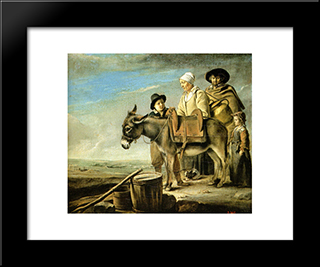 Family Of Milk Seller: Modern Black Framed Art Print by Le Nain brothers