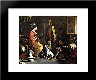 The Artist'S Studio: Modern Black Framed Art Print by Le Nain brothers