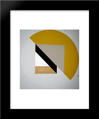 A Sunday Painting: Modern Black Framed Art Print by Leo Valledor