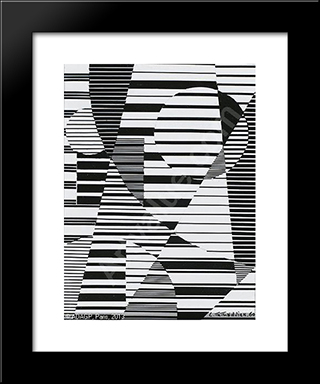 Abstract Composition: Modern Black Framed Art Print by Leon Arthur Tutundjian