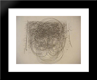 Circles And Lines: Modern Black Framed Art Print by Leon Arthur Tutundjian