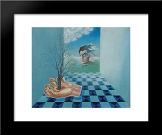 Compoisition Surrealiste Ou La Main: Modern Black Framed Art Print by Leon Arthur Tutundjian