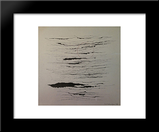 Composition Abstraite: Modern Black Framed Art Print by Leon Arthur Tutundjian