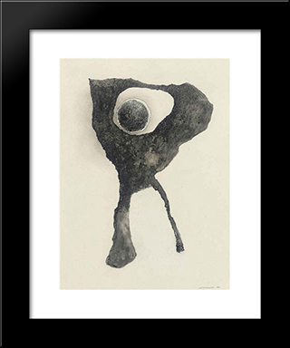 Composition Surrealiste: Modern Black Framed Art Print by Leon Arthur Tutundjian