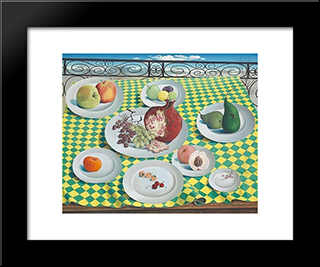 Dejeuner De Fruits: Modern Black Framed Art Print by Leon Arthur Tutundjian