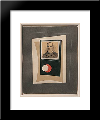 Louis Pasteur: Modern Black Framed Art Print by Leon Arthur Tutundjian