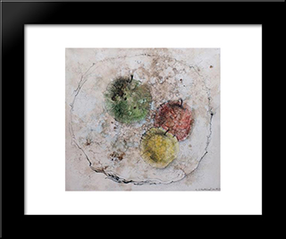 Nature Morte Aux Pommes: Modern Black Framed Art Print by Leon Arthur Tutundjian