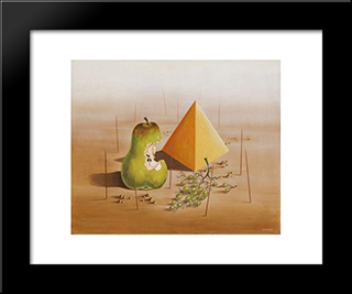 Poire Et Raisins: Modern Black Framed Art Print by Leon Arthur Tutundjian