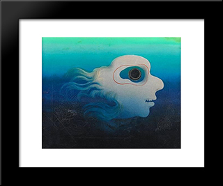 Tete Surrealiste: Modern Black Framed Art Print by Leon Arthur Tutundjian