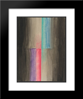 Colored Rhythm Study For The Film: Modern Black Framed Art Print by Leopold Survage