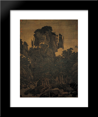 Wind In The Pines Among A Myriad Valleys: Modern Black Framed Art Print by Li Tang