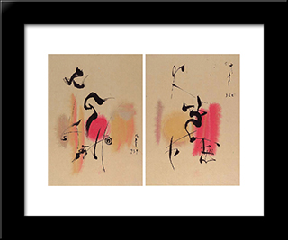Untitled (Diptych): Modern Black Framed Art Print by Li Yuan Chia