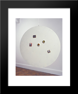 Untitled (Moveable Magnetic Photographic Points On Metallic Disc): Modern Black Framed Art Print by Li Yuan Chia