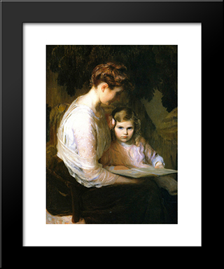 A Fairy Tale: Modern Black Framed Art Print by Lilla Cabot Perry