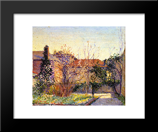 A Peach Tree: Modern Black Framed Art Print by Lilla Cabot Perry