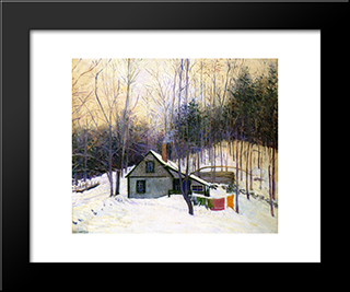 A Snowy Monday: Modern Black Framed Art Print by Lilla Cabot Perry