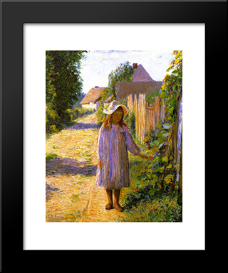 Alice In The Lane: Modern Black Framed Art Print by Lilla Cabot Perry
