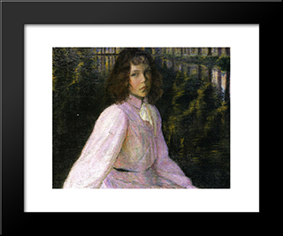 At The River'S Head: Modern Black Framed Art Print by Lilla Cabot Perry