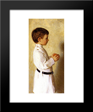 Augustus Lowell Putnam: Modern Black Framed Art Print by Lilla Cabot Perry