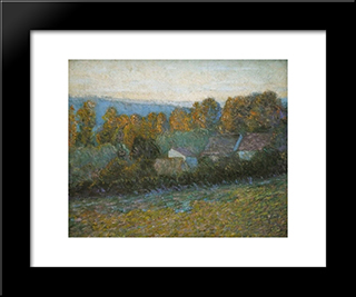 Autumn Afternoon, Giverny: Modern Black Framed Art Print by Lilla Cabot Perry