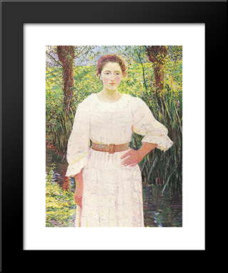 By The Brook: Modern Black Framed Art Print by Lilla Cabot Perry