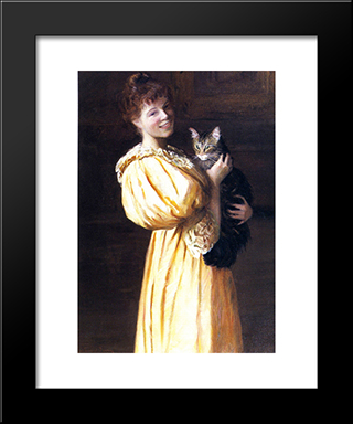 Edith With Lierre: Modern Black Framed Art Print by Lilla Cabot Perry