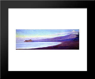 Fuji From Lava Beach: Modern Black Framed Art Print by Lilla Cabot Perry