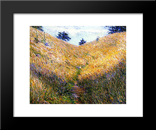 Giverny Hillside: Modern Black Framed Art Print by Lilla Cabot Perry