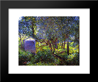 Giverny Landscae, In Monet'S Garden: Modern Black Framed Art Print by Lilla Cabot Perry