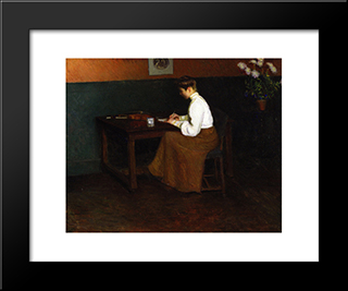 In The Studio: Modern Black Framed Art Print by Lilla Cabot Perry