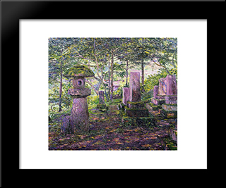 Japan: Modern Black Framed Art Print by Lilla Cabot Perry
