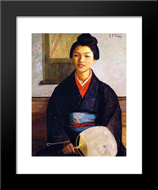 Japanese Girl: Modern Black Framed Art Print by Lilla Cabot Perry