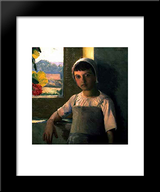 La Petite Angele, Ii: Modern Black Framed Art Print by Lilla Cabot Perry