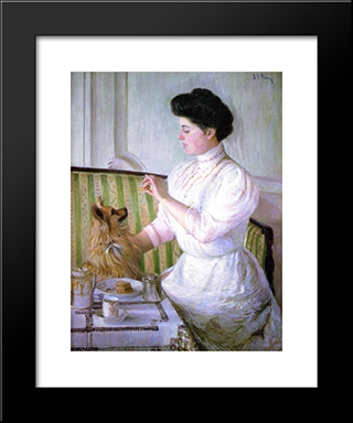 Lady At The Tea Table: Modern Black Framed Art Print by Lilla Cabot Perry