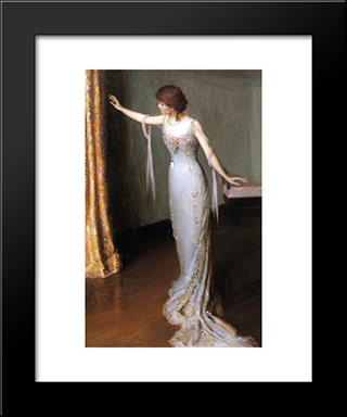 Lady In An Evening Dress: Modern Black Framed Art Print by Lilla Cabot Perry
