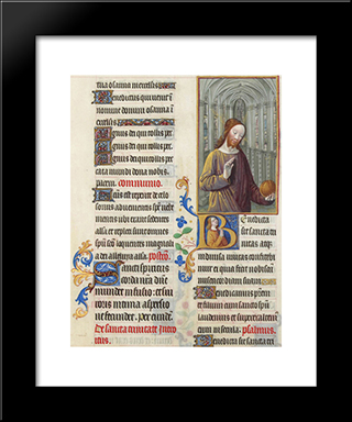 Christ Blessing The World: Modern Black Framed Art Print by Limbourg brothers