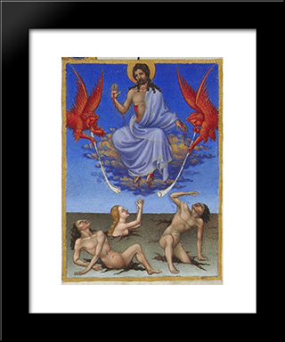 Christ In Glory: Modern Black Framed Art Print by Limbourg brothers